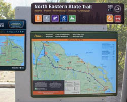 North Eastern State Trail Aloha Township